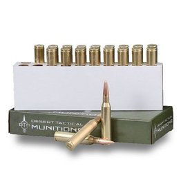 Desert Tactical Match Ammunition, 338 Lapua, Boat Tail Hollow Point, 300 GR, 2730 fps, 20 Rd/bx