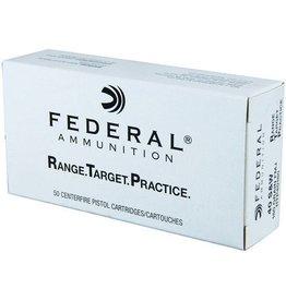 Federal Range Target Practice Handgun Ammunition RTP45230, 40 S&W, Full Metal Jacket, 165 Gr, 1000 fps, 50 Rd/bx