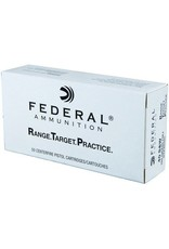 Federal Range Target Practice Handgun Ammunition RTP40180, 40 S&W, Full Metal Jacket, 180 Gr, 1000 fps, CASE