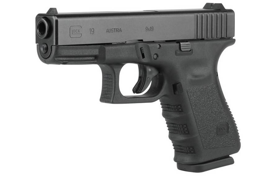 Glock Glock 19 Compact Pistol, 9 MM, 4.02 in, Fixed Sights