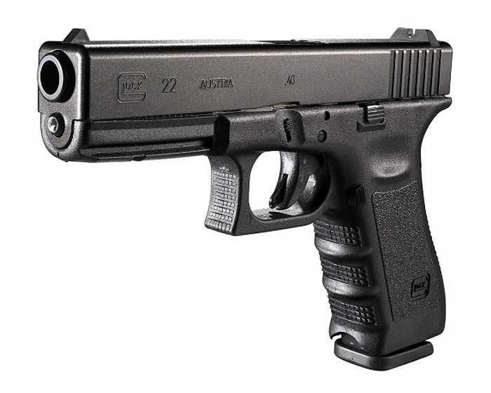Glock Glock 22 Pistol, 40 S&W, 4.49 in, Fixed Sights
