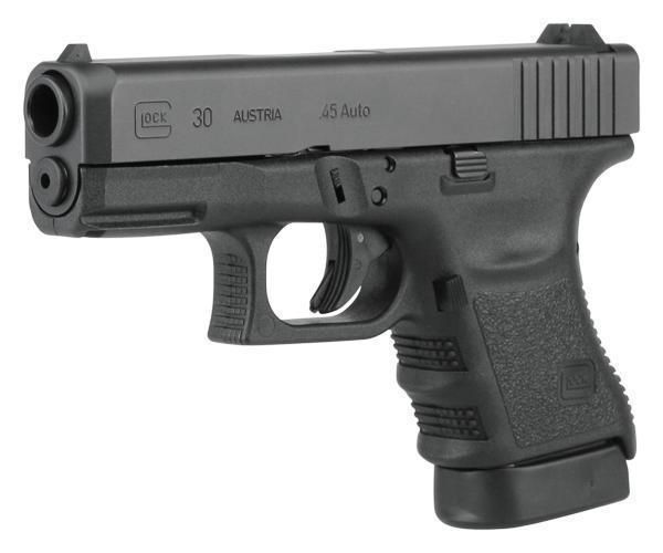 Glock Glock 30SF Subcompact Short Frame Pistol PF3050201, 45 ACP, 3.78 in, Fixed Sights