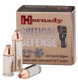Hornady Critical Defense Ammunition 91340, 40 S&W, Flex Tip Expanding, 165 GR, 1175 fps, 200 Rd Case