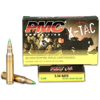 PMC X-Tac Ammunition PMC556K, 5.56MM NATO, Light Armor Piercing, 62 GR, 20 Rd/bx
