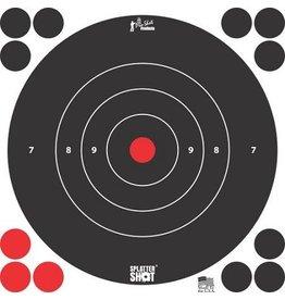 """Pro-Shot, Splatter Shot 8"""" White Bull's Eye Target- Peel and Stick- 6 Pack"""