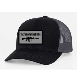 SBR, Black/Gray Hat Snapback, Large Patch
