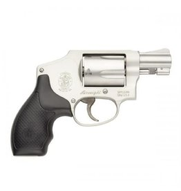"""Smith & Wesson Smith & Wesson 642 Airweight Revolver 163810, 38 Special, 1.87"""", Rubber Grip, Stainless Finish, 5 Rd, Fixed Sights"""
