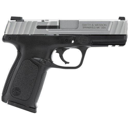 Smith & Wesson Smith & Wesson SD40 VE Pistol 123403, 40SW, 4 in, Textured Polymer Grip, Stainless Finish, 10 Rd, CA Compliant