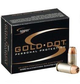 Speer Gold Dot Ammunition 23617, 9 mm +P, Gold Dot Hollow Point, 124 GR, 1220 fps, 20 Rd/bx
