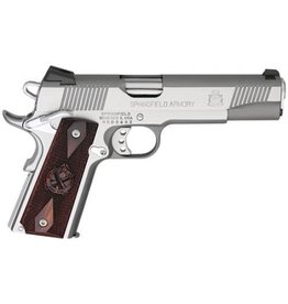 """Springfield Springfield Loaded Full Size Stainless Steel Pistol PX9151L, 45 ACP, 5"""", Cocobolo Wood Grips, Stainless Finish, Fixed Low Profile Combat Rear Dovetail Front Sights, 7 Rd"""