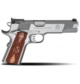 "Springfield Springfield Loaded Full Size Stainless Steel Target Pistol PI9132LP, 45 ACP, 5"", Cocobolo Wood Grips, Stainless Finish, Low Profile Adjustable Rear Dovetail Front Target Sights, 7 Rd"