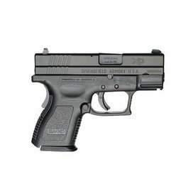Springfield Springfield XD-40 Sub-Compact Essential Package XD9802, 40 S&W, 3 in, Checkered Polymer Grip, Black Slide/Black Frame, 9 Rd