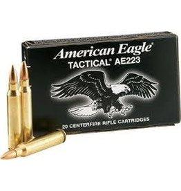 Federal American Eagle Ammunition AE223J, 223 Remington, Metal Case Boat Tail, 55 GR, 20 Rd/bx