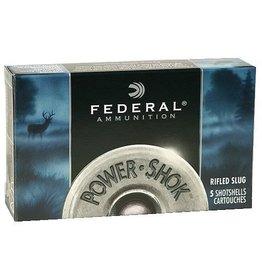 """Federal Premium Power Shok F131RS, 12 Gauge, 3"""", 1 1/4 oz, 1600 fps, Lead Rifle Slug, 5 Rd/bx"""