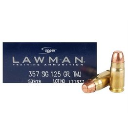 Speer Lawman Ammunition 53919, 357 SIG, Total Metal Jacket (TMJ), 125 GR, 1350 fps, 50 Rd/bx