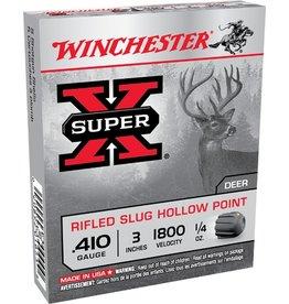 "Winchester Super X Lead Rifled Slug X413RS5, 410 Gauge, 3"", 1/4 oz, 1800 fps, 5 Rd/bx"