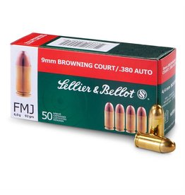 Sellier & Bellot Pistol Ammuntion .380 ACP, Full Metal Jacket, 92GR, 50 Rd