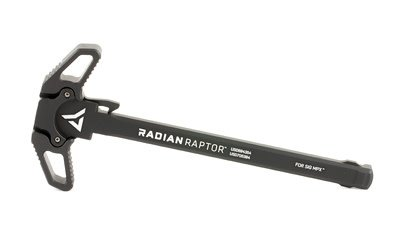 Radian Radian Weapons, Raptor Ambidextrous Charging Handle, 9MM, Fits Sig MPX, Black Finish