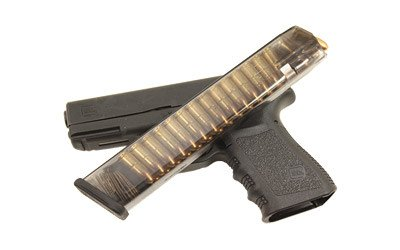ETS Elite Tactical Systems Group, Mag, 9MM, 31 Round, Smoke, Fits Glock 17/22,19/23 Gen 3 and Gen 4 Models