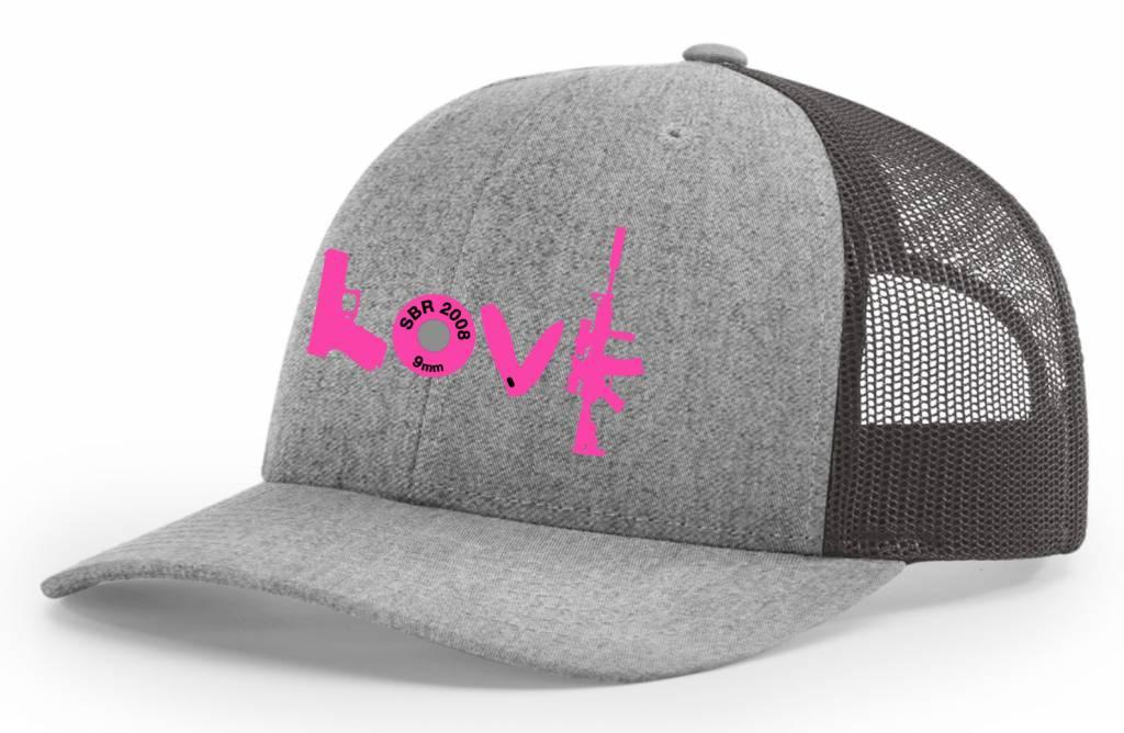 SBR, Heather/Charcoal Hat Snapback, LOVE