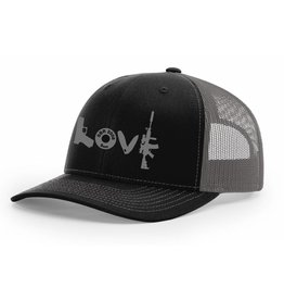 SBR, Black/Grey Hat Snapback, Grey LOVE