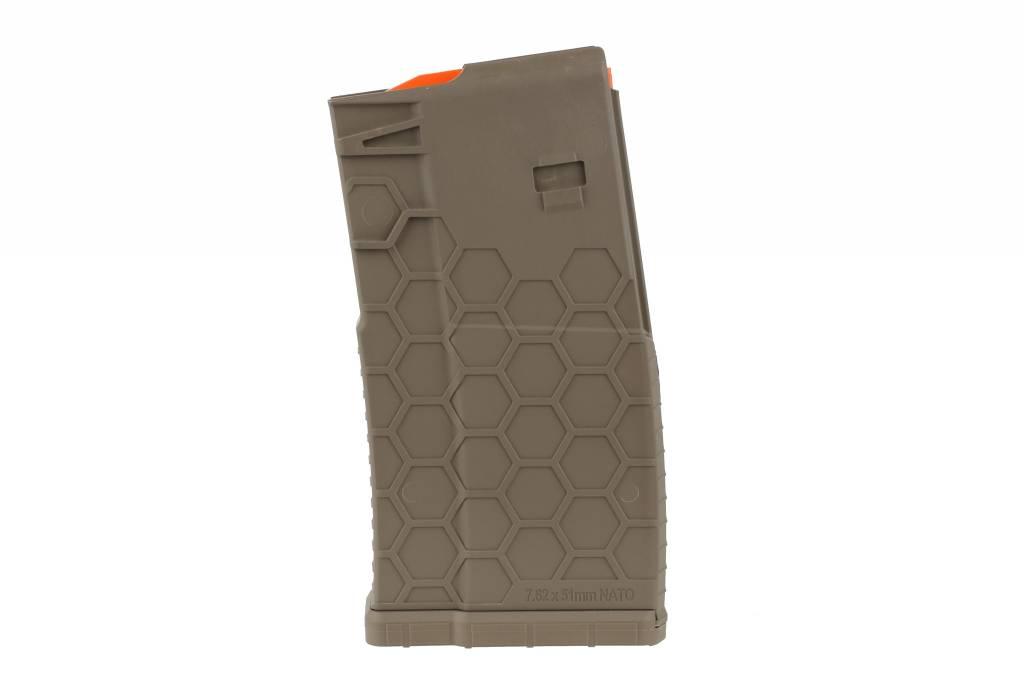 hexmag 308 sr25 10 round magazine fde sacramento black rifle