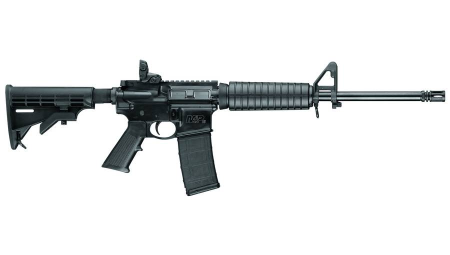 """Smith & Wesson Smith & Wesson M&P 15 Sport (Featureless) Rifle, 12001, 5.56mm, 16"""", Black Finish, Iron Sights"""