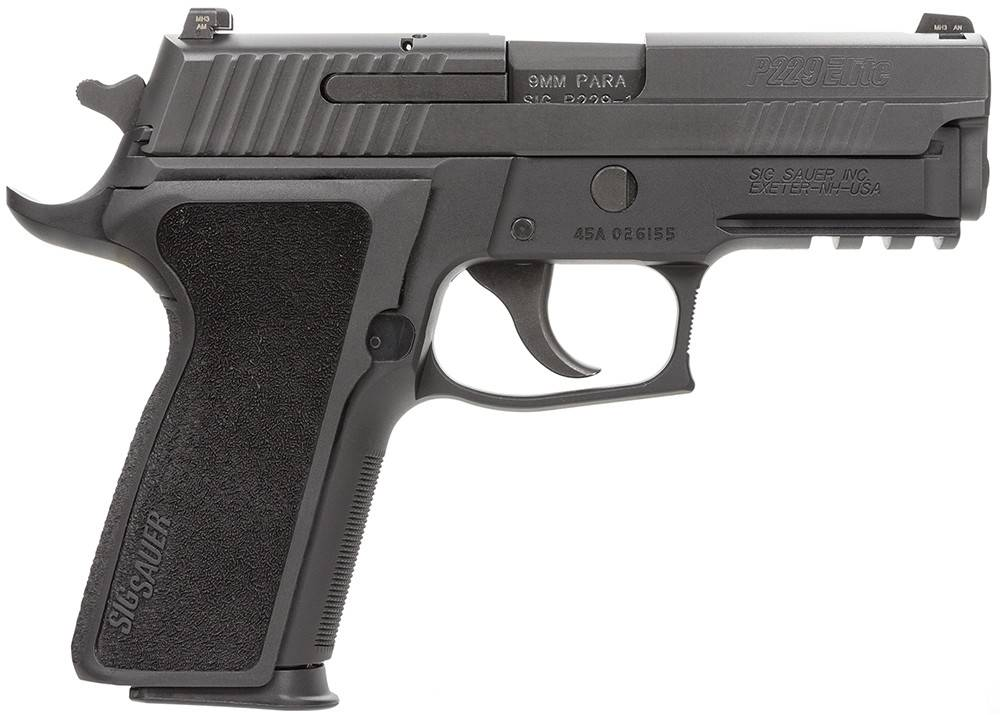 Sig Sauer Sig P229 Enhanced Elite (CA Approved) Pistol 229R9ESECA, 9mm, 3.9 in, Reduced Reach Ergo Grip, Black Finish, Night Sights, 10 Rd