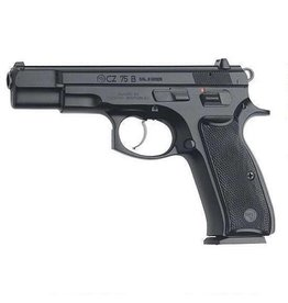 "CZ 75B Semi-Auto Pistol 91102, 9mm, 4.7"", Black Plastic Grip, Black Finish, 10 Rd"