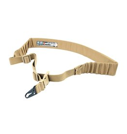 Blue Force UDC Single Point Sling, Coyote Brown, HK Style Hook Adapter, Padded Bungee