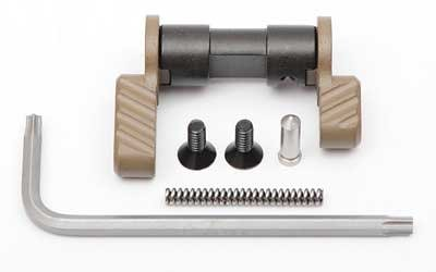 Battle Arms Development, Inc., Ambidextrous Safety Selector 2 Lever Kit, Standard and Short Levers, Fits AR Rifles, 90 Degree Throw, Flat Dark Earth Finish