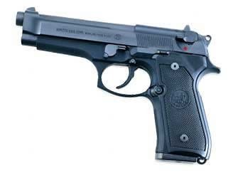 "Beretta M9 Semi-Auto Pistol J92M9AO, 9 MM, 4.9"", Plastic Grip, Black Finish, 10 Rd"