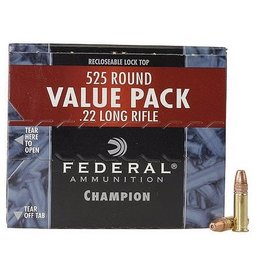 Federal Ammunition 745, 22 Long Rifle, Copper Plated HP, 36 GR, 1260 fps, 525 Rd/b