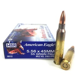 Federal Lake City Arsenal XM193F, 5.56mm, 55gr,  Metal Case Boattail, 20rd Box