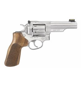 """Ruger 1775 GP100 Match Champion Revolver 10mm 4.2"""" 6 Rd Hardwood Hogue Grip Stainless Steel"""