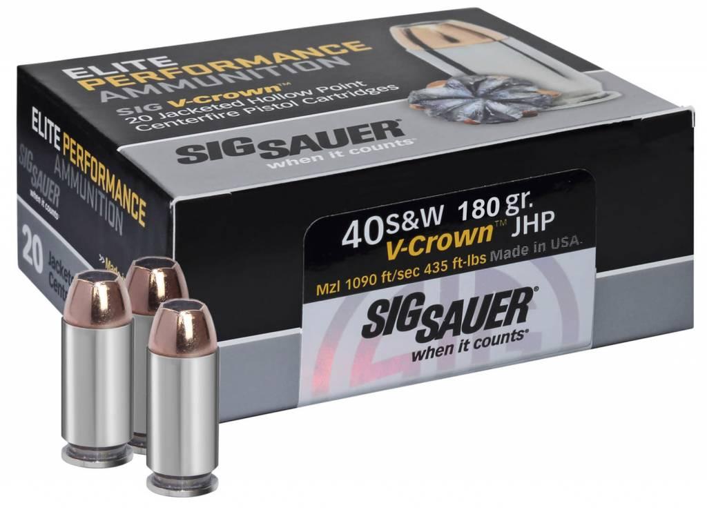 Sig Sauer Sig Sauer E40SW220 V-Crown 40 S&W 180 GR JHP 20 Bx/ 10 Cs