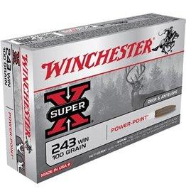 Winchester Ammo X2432 Super-X 243 Winchester 100 GR Power-Point 20 Bx/ 10 Cs