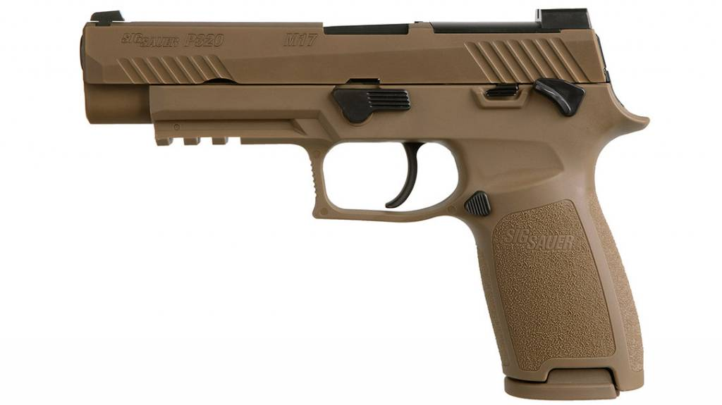 """Sig Sauer Sig Sauer 320F9M17MS P320 M17 9mm Luger Double 4.7"""" 17+1 Coyote Polymer Grip Coyote Stainless Steel PVD Slide"""