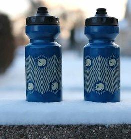 Angry Catfish Chevron 22oz Bottle - Blue/Cream