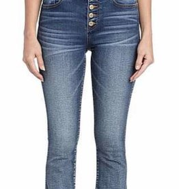 Miss Me Miss Me High Rise Crop Denim with frayed hem