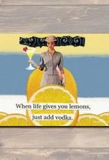 High Cotten Gifts HCG Welcome Mat - Lemons add vodka