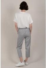Molly Bracken Plaid pants with Tuxedo Stripe