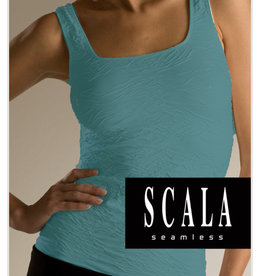 scala Scala Crinkle Tank Top Caribe Color