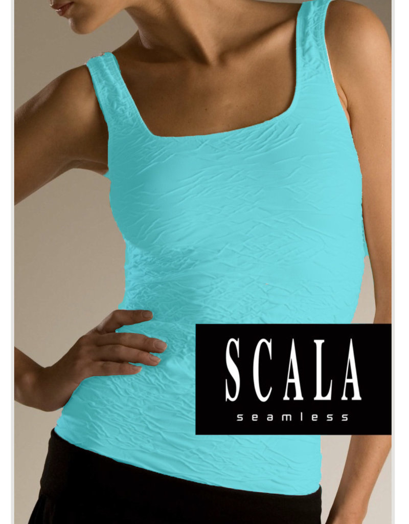 Crinkle Tank Top Aquamarine Color