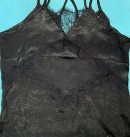 Molly Bracken Lacy Silky Cami Black
