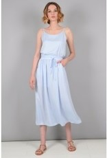 Molly Bracken Long Blue Dress with Tie