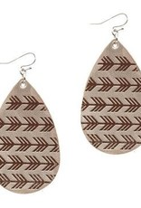 CS Leather Tear Drop Earrings - FABULOUS
