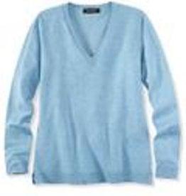 525 America Vee Neck Lightweight Sweater Either Chalk Blue or Sandstone