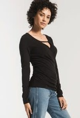 Z Supply The Wrap Long Sleeve Top Black