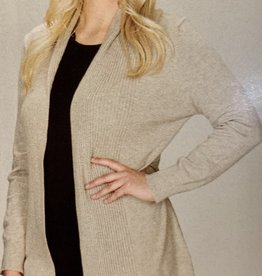 Papillon Ribbed Back Design Cardigan Grey or Tan
